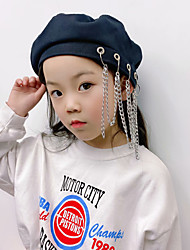 cheap -1pcs Kids Unisex Basic Birthday / Casual / Vacation Solid Colored Stylish Cotton Hats & Caps Black S