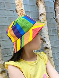 cheap -1pcs Kids Unisex Basic Birthday / Casual / Vacation Rainbow / Geometric Stylish Cotton Hats & Caps Rainbow S