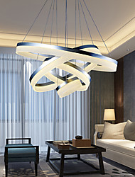 cheap -Modern LED White Acrylic Pendant Light Circle Design Ceiling Lights Chandeliers 4 Rings Hanging Lamp Indoor 76W with Remote Control for Villas Malls Barber Shops Milk Tea Shops Clothing Stores Hotels