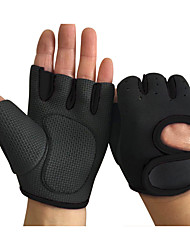 cheap -Bike Gloves / Cycling Gloves Wearable Skidproof Fingerless Gloves Sports Gloves Black Blue Rose Red for Adults Cycling / Bike