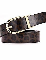 cheap -wyuze leopard print reversible leather belt women fashion waist dresses belt for jeans/pants