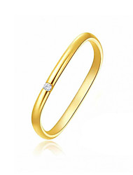cheap -Couple Rings Cubic Zirconia Classic Gold Alloy Mini Simple Trendy Korean 1pc 7 / Women's / Couple's