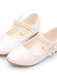 cheap -Girls' Heels Flower Girl Shoes Princess Shoes School Shoes Rubber PU Little Kids(4-7ys) Big Kids(7years +) Daily Party & Evening Walking Shoes Rhinestone Sparkling Glitter Buckle White Pink Fall