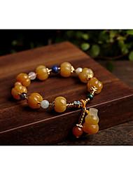 cheap -Women's Bead Bracelet Beads Fashion Unique Design Fashion Stone Bracelet Jewelry khaki For Gift