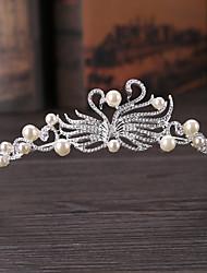 cheap -Wedding Alloy Crown Tiaras with Metal 1 PC Wedding / Party / Evening Headpiece
