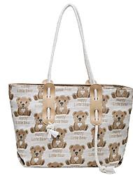 cheap -Women's Bags Top Handle Bag Daily Date Handbags White Black Brown