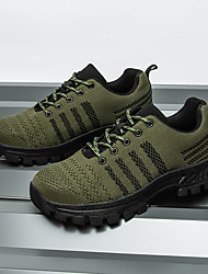 cheap -Men's Trainers Athletic Shoes Casual Daily Safety Shoes Tissage Volant Breathable Non-slipping Wear Proof Black Army Green Spring