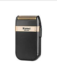 cheap -USB Charging Reciprocating Double Net Razor Gold And Silver Knife Net KM-2024 Whole Body Washing