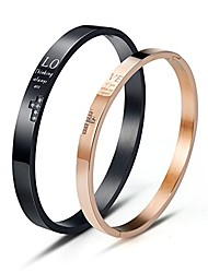 cheap -His and Hers Matching Bracelets Stainless Steel Love Couple Bracelet for Men Women Gifts