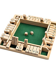 cheap -Shut The Box Dice Game Wooden (2-4 Players) for Kids & Adults [4 Sided Large Wooden Board Game, 8 Dice + Shut The Box Rules] Amusing Game for Learning Addition, 12 inch