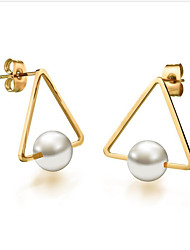 cheap -Women's Pearl Earrings Geometrical Fashion Stylish Earrings Jewelry Gold For Anniversary Party Evening Birthday
