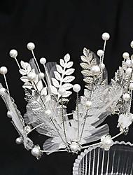 cheap -Wedding Net / Alloy Crown Tiaras with Imitation Pearl / Metal 1 PC Wedding / Party / Evening Headpiece