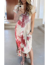 cheap -Women's A Line Dress Maxi long Dress Pink Imitation cotton pull frame fabric 5XL-0.3kg The clothes are thick and impervious Cross-border hot sales in Europe and the United States, Sky Blue Navy Blue