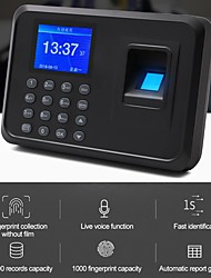 cheap -YK&SCAN F01 attendance system of digital printing multi-language tft display watch recorder employee recognition device machine