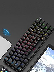 cheap -AJAZZ i610T Wireless Bluetooth USB Wired Dual Mode Mechanical Keyboard Novelty Gaming Programmable RGB Backlit 61 pcs Keys