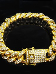 cheap -Chain Bracelet Bracelet Cuban Link Ball Stylish Trendy Alloy Bracelet Jewelry Rose Gold / Gold / Silver For Date Birthday