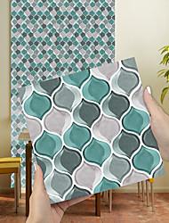 cheap -Imitation Epoxy Tile Sticker Blue Grey Lantern Wall Sticker House Renovation Diy Self-adhesive Pvc Wallpaper Painting Kitchen Waterproof And Oilproof Wall Sticker