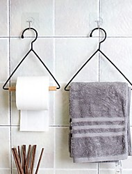 cheap -Retro Paper Towel Rack Iron Towel Rack Kitchen Living Room Tripod Living Room Decoration
