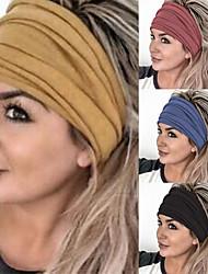 cheap -3 Pcs Fashion Solid Color Wide-brimmed Headband Sports Yoga Headband Ladies Wash Hair Accessories