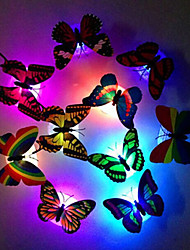cheap -6pcs Creative Luminous Butterfly Nightlight Changing LED Night Light Lamp wall stickers Decal Home Decor