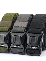 cheap -Men's Plastic Buckle Belt Military Tactical Belt Quick Release Heavy Duty for Camping / Hiking Hunting Fishing Solid Colored Nylon Canvas Autumn / Fall Spring Summer
