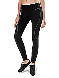 cheap -women's thermal fleece running pants cycling tights cold weather leggings for bike hiking black gray size l