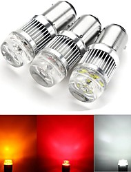 cheap -2 X 1157 BAY15D 6 Chips LED Car Turn Bulbs Lamp BAY15D Brake Tail Lights 30W 2400LM DC 12V-24V White Yellow Red 3 Colors Available