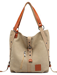 cheap -Women's Bags Canvas Crossbody Bag Zipper Solid Color Daily Date Backpack Canvas Bag Handbags Black Blue Red Khaki