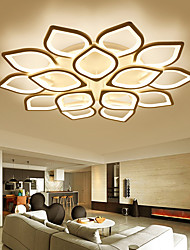 cheap -6/8/12/15 Heads LED Ceiling Light Dimmable Modern Metal Acrylic Stepless Dimming Remote Control Flush Mount Ceiling Lamp Bedroom Painted Finish Pendant Lighting AC220V AC110V