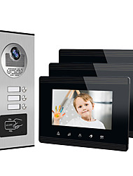 cheap -XINSILU XSL-V70W-B Wired 7 inch Hands-free 800*480 Pixel One to Three video doorphone