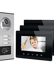 cheap -XINSILU XSL-V70W-B Wired 7 inch Hands-free 800*480 Pixel One to Three video doorphone