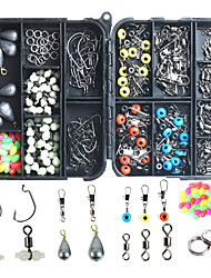 cheap -251 pcs Fishing Hooks Fishing Snaps & Swivels Fishing Beads Fishing Accessories Set Plastic Metal ABS Easy to Carry Easy to Use Sea Fishing Other