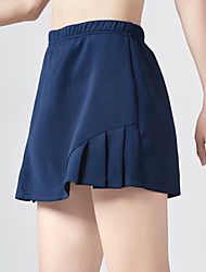 cheap -Women's Golf Skirt Breathable Quick Dry Soft Athleisure Outdoor Autumn / Fall Spring Summer Solid Color Navy White Black / Micro-elastic