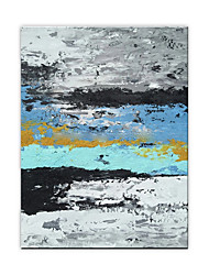 cheap -Oil Painting Hand Painted Vertical Abstract Modern Rolled Canvas (No Frame)