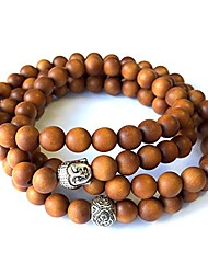 cheap -- Mens Womens 108 Bead Sandalwood 8mm Mala Bracelet - Yoga Meditation Beads - Buddha Prayer Beads