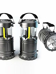 cheap -360lm cob led camping lamp lantern night light, with 80lm emergency light, portable rainproof windproof, idea for outdoor excursion hiking mountaineering emergency power failure etc. (1 piece)