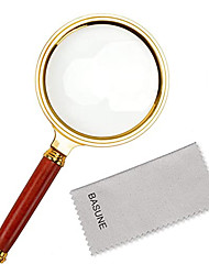 cheap -Magnifier Magnifying Glass Set Handheld Antique 10 Reading Inspection Macular Degeneration Metal Kid's Adults' Seniors