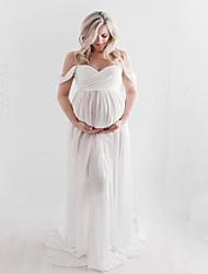 cheap -Women's  Lace Plain Maternity Clothes Padless  Maxi Dresses White