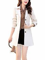 cheap -raylans women's lapel single breasted trench coat spring jacket outwear beige