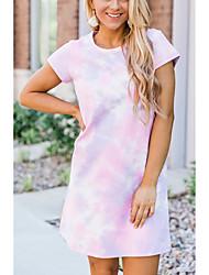cheap -2020 cross-border amazon aliexpress fashion tie-dye hot style women's dress