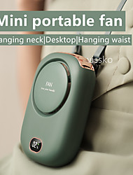 cheap -DQ203 Portable Hand-held Neck-hanging Waist-hanging Mini Photo Charging Fan Three Speed Adjustable For Home Office