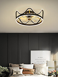 cheap -46/56 cm LED Ceiling Fan Light Dimmable Nordic Modern Crown Geometric Shapes Ceiling Fan Metal Modern Style Novelty Painted Finishes LED Modern 220-240V