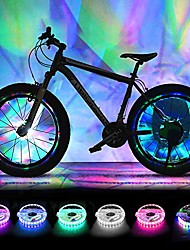 cheap -rechargeable bike wheel lights, led bike spoke lights cycling wheel safety light, cool bicycle tire spoke decoration, usb charge, ultra bright, waterproof, gifts for boys girls adults