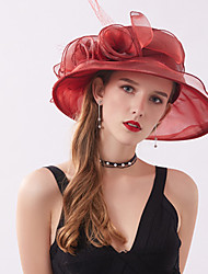 cheap -Vintage Style Elegant Tulle / Lace Hats / Headwear / Straw Hats with Faux Pearl / Lace / Appliques 1 Piece Casual / Holiday Headpiece