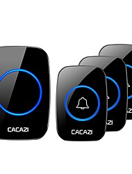 cheap -CACAZI Wireless Doorbell Waterproof Door Bell Transmitter Home Calling Bell 300M Remote LED Button 36 Chime 4 Volume Door Bell