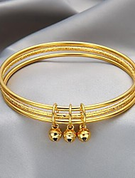 cheap -Women's Bracelet Bangles Double Layered Bell Stylish Simple Alloy Bracelet Jewelry Gold For Festival