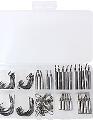 cheap -85 pcs Fishing Hooks Fishing Snaps & Swivels Fishing Accessories Set Lead Easy to Carry Easy to Use Other Lure Fishing