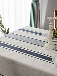 cheap -Table Linens Cotton Dust-Proof Country Striped Tabel cover Table decorations for Daily Wear rectangule 150*100/150*150/140*180/150*200/150*213/150*240/150*260/150*300 cm Red 1 pcs