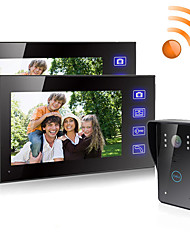 cheap -Wireless 7 inches Video Intercom Video Doorphone/Doorbell HD LCD Touch Screen Phone Two-way Clear Home Security Camera Monitor for Home Door Access Control Security