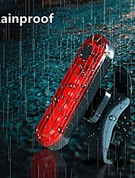 cheap -LED Bike Light LED Light Waterproof Rechargeable Bike Light Set LED Bicycle Cycling Waterproof Portable Professional Rechargeable Battery 120 lm Rechargeable Cycling / Bike